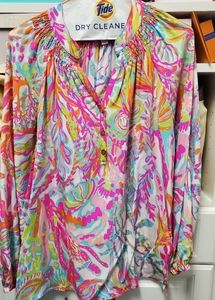 Lilly Pulitzer Elsa top bright multi color size S